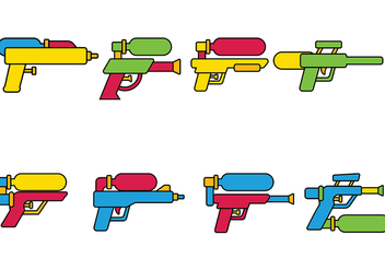 Water Gun Vector - Kostenloses vector #392325