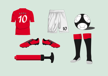 Soccer Kit Vector - Free vector #392575