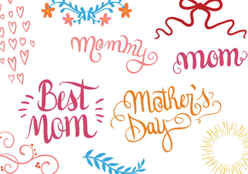 Free Mother's Day vectors - бесплатный vector #393025