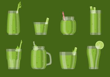 Celery Smoothie Vector - Kostenloses vector #393045