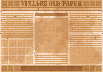 Vintage Old Newspaper Vector - Kostenloses vector #393165