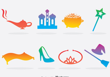 Colorful Fairy Tale Element Vector - Free vector #393245