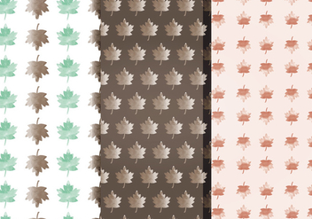 Vector Watercolor Fall Leaf Patterns - Free vector #393365