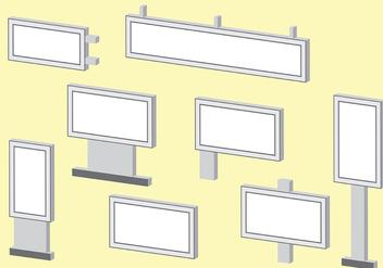 Isometric Hoarding Vector - vector #393385 gratis