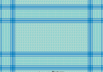 Blue Keffiyeh Seamless Pattern - Free vector #393435