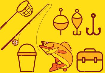 Fishing Icons Set - Free vector #393615