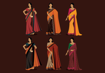 Indian Women Style Vector - Free vector #393685