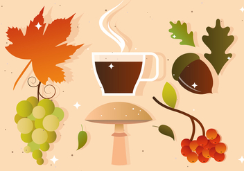 Fall and Autumn Vectors - vector gratuit #393755