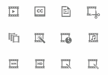 Vector Video Editing Icon - vector #393805 gratis
