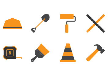 Construction Icons - vector gratuit #393915