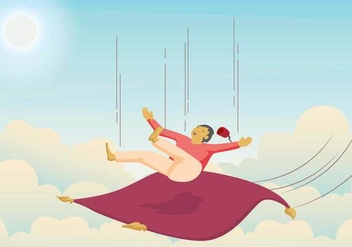 Free Magic Carpet Illustration - Free vector #393965