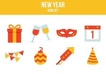 Free New Year Icons - vector #394095 gratis
