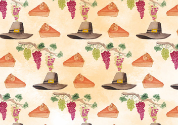 Vector Thanksgiving Autumn Background - Free vector #394145