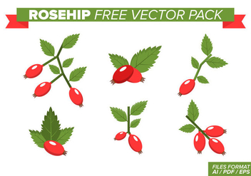 Rosehip Free Vector Pack - vector gratuit #394155