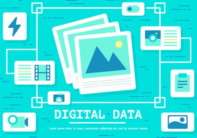 Free Digital Data Vector - Free vector #394295