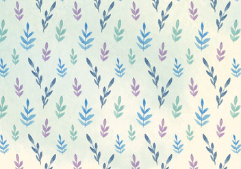 Free Vector Watercolor Leaves Pattern - бесплатный vector #394325