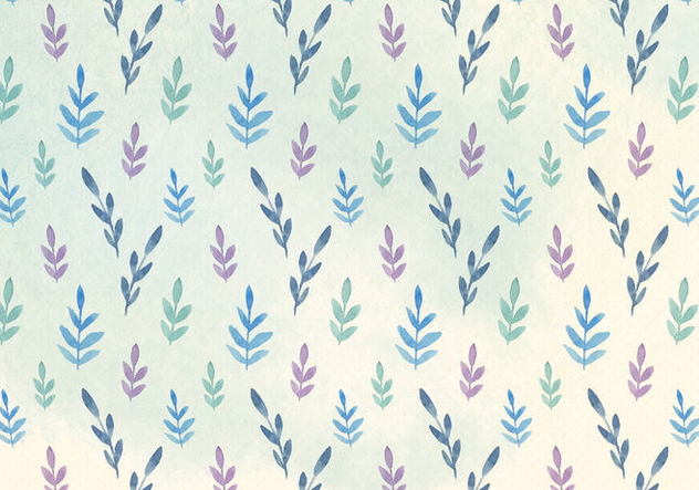 Free Vector Watercolor Leaves Pattern - Free vector #394325