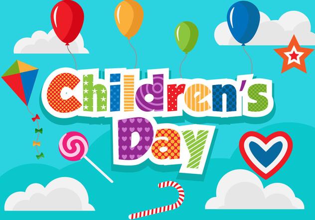 Free Children's Day Vector Illustration - Free vector #394385