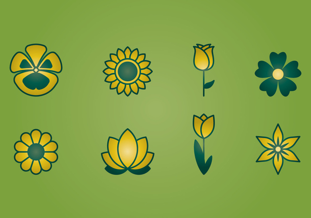 Flower Icons - Free vector #394395