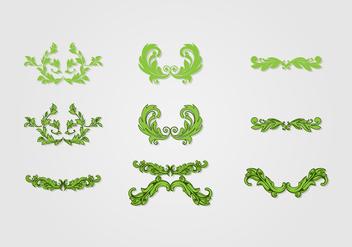 Acanthus Decorative Vector Art - Free vector #394465