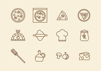 Italian Pizza Icon - Free vector #394555