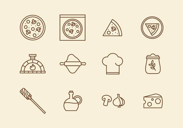 Italian Pizza Icon - Free vector #394555