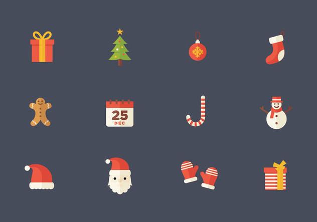 Christmas Flat Vector Icon - бесплатный vector #394565