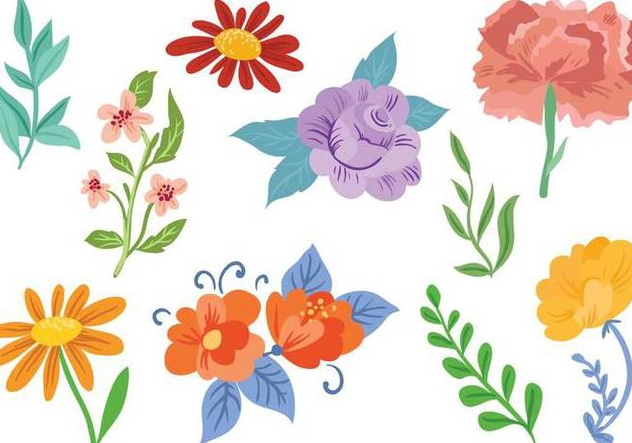 Free Flowers 2 Vectors - Free vector #394585