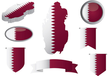 Free Qatar Icons Vector - Free vector #394605