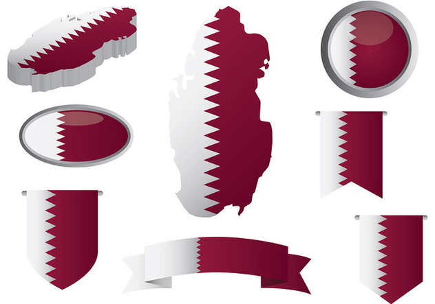 Free Qatar Icons Vector - Free vector #394605