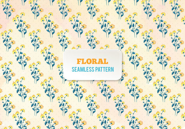 Free Vector Watercolor Floral Pattern - Free vector #394625
