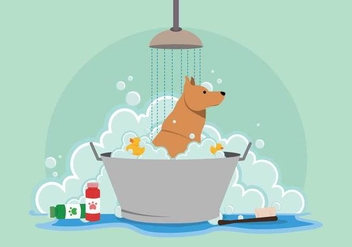 Free Dog Wash Illustration - vector gratuit #394715