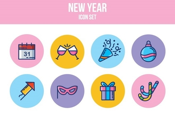 Free New Year Icon Set - vector gratuit(e) #394735
