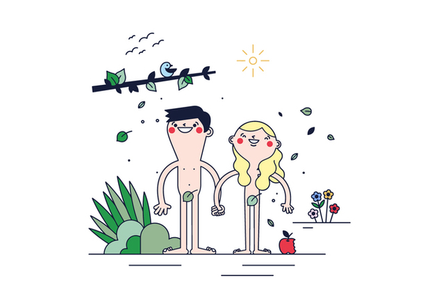 Free Adam And Eve Vector - Free vector #394895