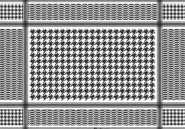 Free Vector Black Keffiyeh Pattern - Free vector #394925