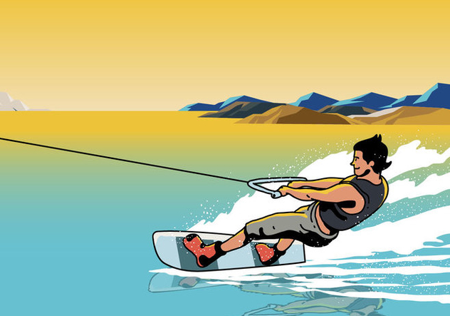 Sportsman Wakeboarding - Free vector #394935