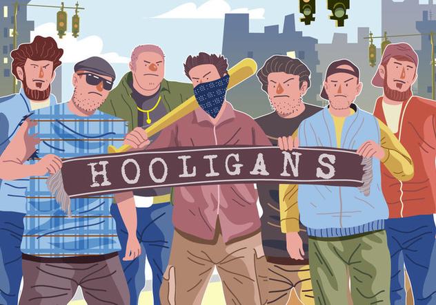 Vector Hooligans Gathering - Free vector #394965