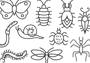 Free Insects Vectors - Kostenloses vector #394995