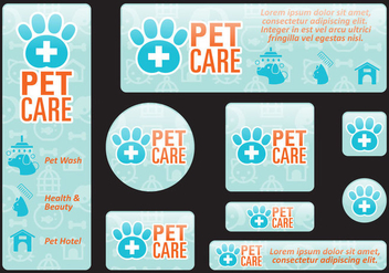 Pet Care Banners - бесплатный vector #395165