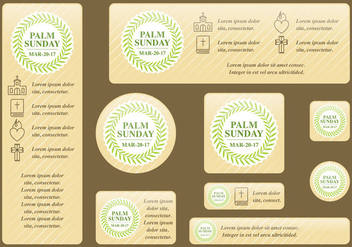 Palm Sunday Banners - vector gratuit #395205