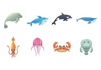 Free Sea Creature Vector - Free vector #395215