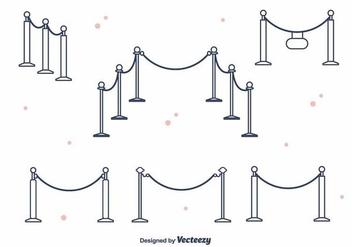 Velvet Rope Vector - vector #395355 gratis