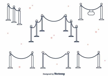 Velvet Rope Vector - vector gratuit #395355