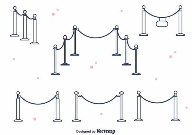 Velvet Rope Vector - Free vector #395355