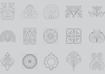 Line Antique Decor - бесплатный vector #395435