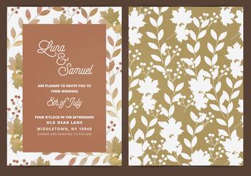Vector Fall Leaf Wedding Invite - Free vector #395455