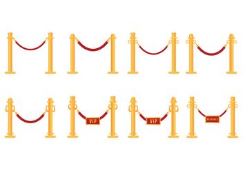 Free Velvet Rope Vector - Free vector #395565