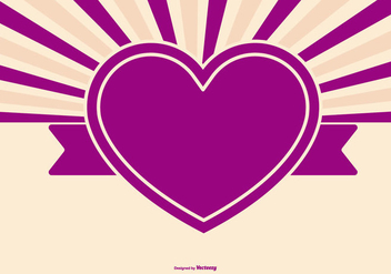 Cute Retro Heart Background - Free vector #395585