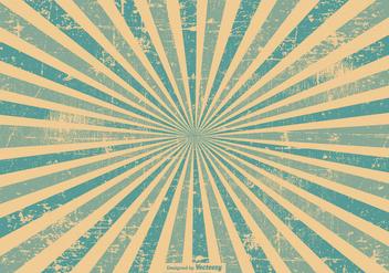 Blue Grunge Style Sunburst Background - Free vector #395595