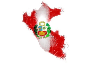 Painted Peru Flag Vector - Free vector #395715